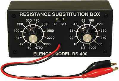 ELENCO RS-400 RESISTOR SUBSTITUTION BOX-10 ohm to 1 Meg ohm (ASSEMBLED VERSION)
