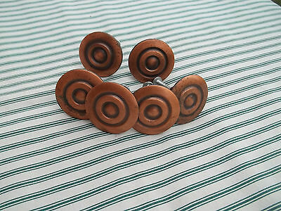 "6 Modern Matching Non Magnetic Metal 1 1/2"" Diameter Drawer Pulls, Free S/H"