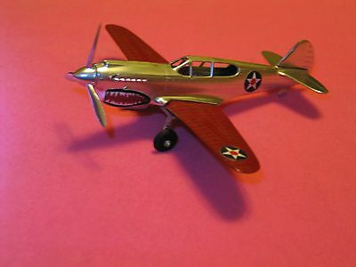 VINTAGE HUBLEY #761 P-40 AIRPLANE EARLY WWII ARMY FIGHTER PLANE