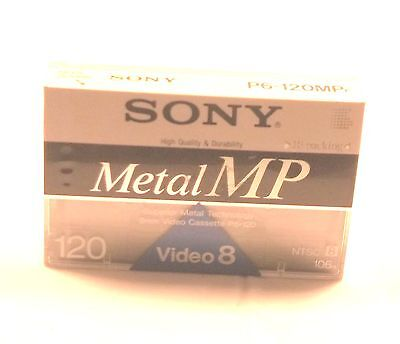 1 SONY METAL MP 120 Min Video Camcorder Tape P6-120MPF Video8 Sealed New
