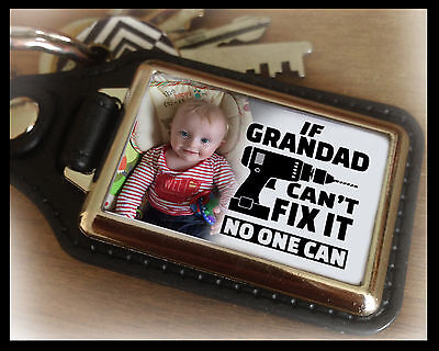 Personalised keyring, key fob, worlds best Grandad, birthday or christmas gift