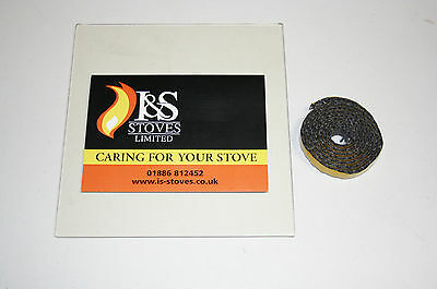 Charnwood Stove Replacement Glass with FREE Seal/Gasket - Various Models