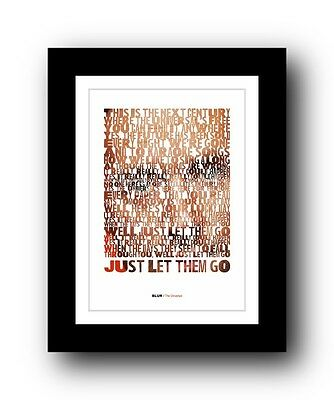 BLUR The Universal  ❤  song lyrics typography poster art print #2