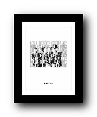BLUR For Tomorrow  ❤  song lyrics typography poster art print