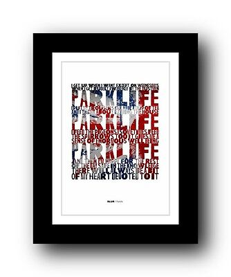 BLUR Parklife #4  ❤  song lyrics typography poster art print