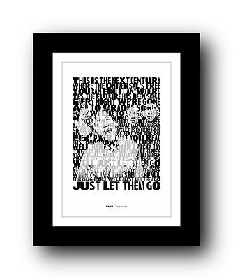 BLUR The Universal  ❤  song lyrics typography poster art print #3