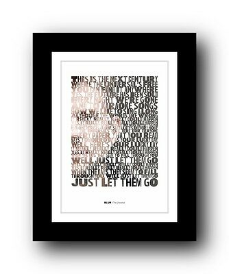 BLUR The Universal  ❤  song lyrics typography poster art print #4