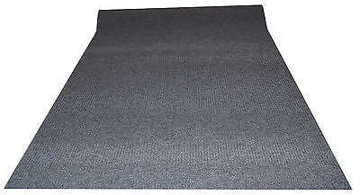 2m Anthracite Ribbed Polypropylene Carpeting Entrance Foyer matting @ £5.49m²