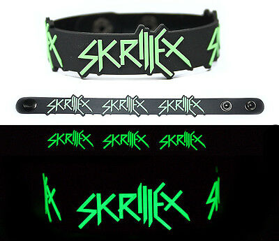 SKRILLEX Rubber Bracelet Wristband Glows in the Dark