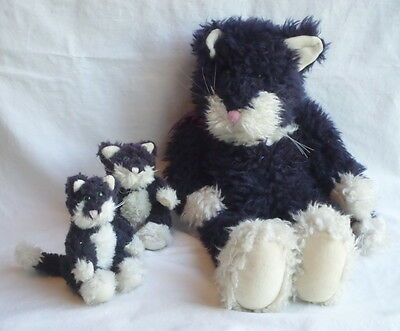 Boyds Bears Old Cat and Kittens White Tag Vintage Gettysburg PA 1990 1985-95