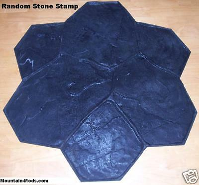 Random Stone/Rock Decorative Concrete Cement Imprint Texture Stamp Mat Floppy