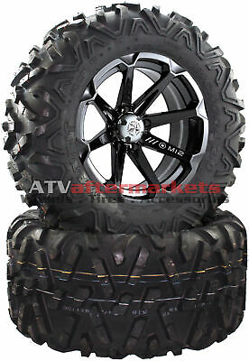 "MSA M12 Diesel 14"" ATV Wheels on 26"" Bighorn 2.0 Tires Polaris Ranger"
