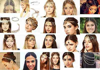 Women Fashion Wedding Head Chain Jewelry Party Headband Head Piece Hair band