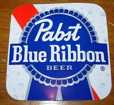 PABST BLUE RIBBON square PBR LOGO STICKER decal craft beer brewery brewing