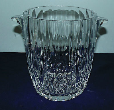Cristal d' Arques Durand Bretagne Crystal Ice Champagne Bucket