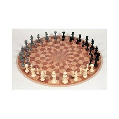 3 Man Chess Set 48 Piece Board Game Three Player Person Skill Play Move Plastic