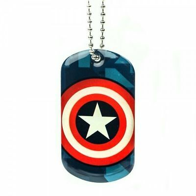 Marvel Captain America Avengers Licensed Dog Tags Pendant Necklace