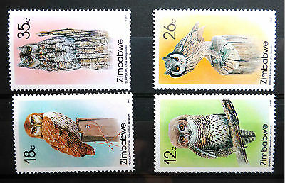 Zimbabwe 1987 Owls Sg710-13 U/m New Lower Price Fp2965