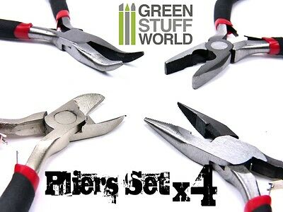 Complete Hobby Plier Set - 4 tools - Precision tool Kit - lenght 11cm 4.5 inches