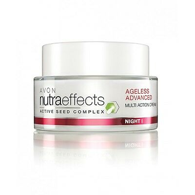 Crema De Noche Multi-Accion Nutra Effects Ageless Avon Night Cream Multi-Action