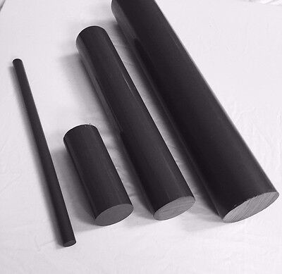 "1/2"" Diameter Gray PVC Type 1 Plastic Rod-Priced Per Foot-Cut to Size!"