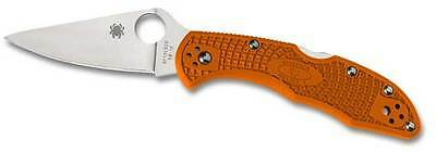 Spyderco Flat Ground Delica Knife with Orange Handle C11FPOR New