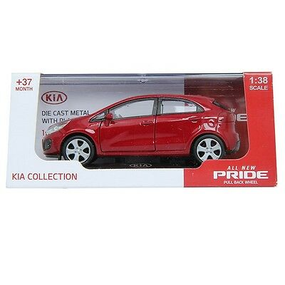 PINO B&D KIA All New Pride 1:38 Diecast Miniature Display Front Door Signal Red