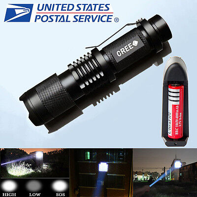 UltraFire 1800LM CREE XM-L T6 LED ZOOMABLE Flashlight +Battery &Charger From US
