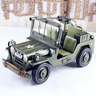 Handmade metal Decoration home decorate Craft Car US army Jeep world war toy H