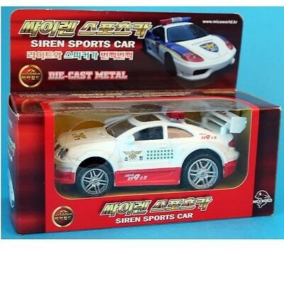 Mica SL667 KOREA Siren Sports Car SOUND DIECAST METAL