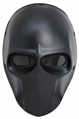 Army of Two Black Wire Mesh Full Face Protection Paintball Skull Mask Cosplay