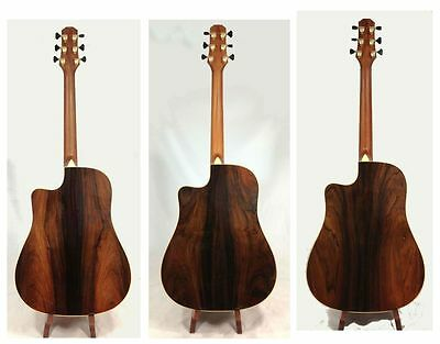 Solid spruce Rare Brazilian Rosewood Dreadnought cutaway Acoustic Guitar DCBR