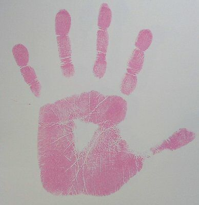 Pink Inkless Wipe Hand & Foot Print Kit Baby & Newborn Safe New Girl Great Gift