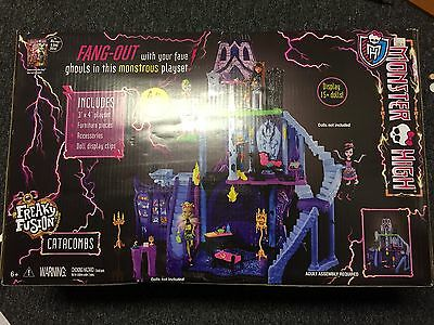 Monster High Freaky Fusion Catacombs Playset Castle Doll House  Brand New!!