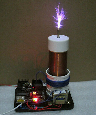 AC 220V Solid State Tesla Coil PLLSSTC phase-locked loop ZVS , Arc can touch
