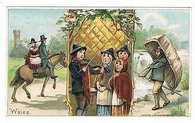 1893 ARBUCKLE BROTHERS COFFEE Victorian Trade Card WALES #5
