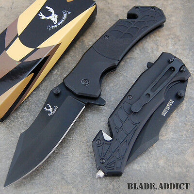 """8"""" Spider Tactical Combat Spring Assisted Open Pocket Rescue Knife G10 -M"""