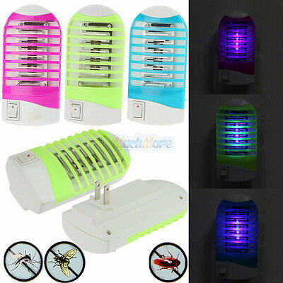 LED Electric Mosquito Fly Bug Insect Trap Zapper Killer Night Lamp Arc Shape NEW