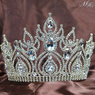 Magnificent Wedding Bridal Tiaras Pageant Crowns Gold Rhinestone Crystal Party