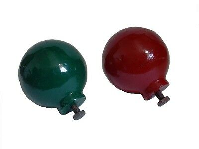 Pair of BALLS for Wooden BINNACLE Compass - RARE - 100% SATISFACTION