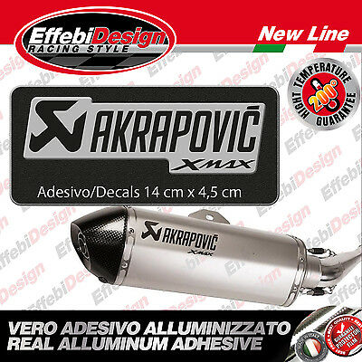 adesivo/Sticker AKRAPOVIC XMAX 125 250 400 RACING ALTE TEMPERATURE 200°