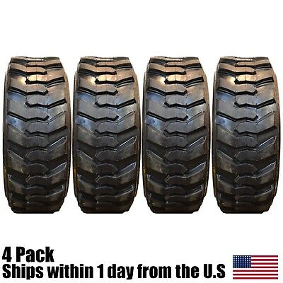 4 New 10x16.5 Skid Steer 10 Ply Tires For Caterpillar CAT Loader 10-16.5 10Ply