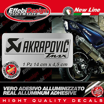 adesivo/Sticker AKRAPOVIC  TMAX 500 530 YEC RACING ALTE TEMPERATURE 200°