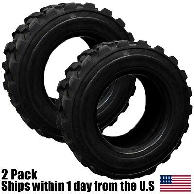 (2) New 12Ply 12x16.5 Skid Steer Tires fits Bob-Cat Cat Deere Case New Holland