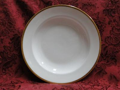 Tirschenreuth Colonial, White w/ Smooth Gold Band: Rim Soup Bowl (s), 8.25""