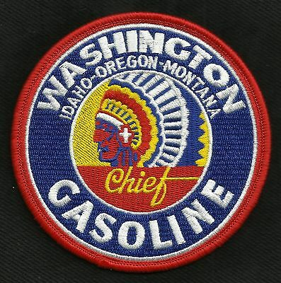 Vintage Style Washington Gasoline Chief Hot Rod Rockabilly Greaser Biker Patch