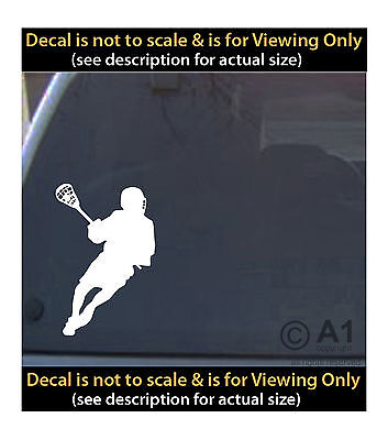 lacrosse player 6 inch decal 4 car truck home laptop fun more SPT_59