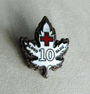Old Vintage Canada Canadian Red Cross Blood SANG Lapel Pin Badge # 10