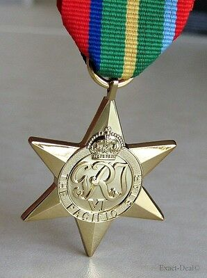 Canada Canadian - British & Commonwealth The Pacific Star Campaign Medal WWII