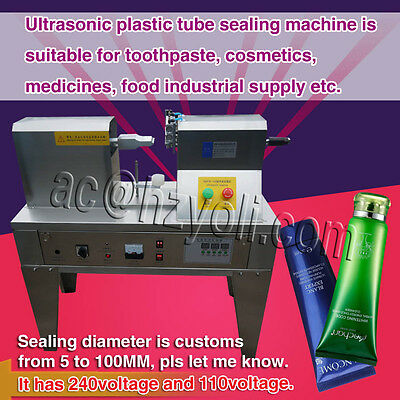 ultrasonic tube tail sealer,semi-auto impulse tail sealing machine for cosmetics